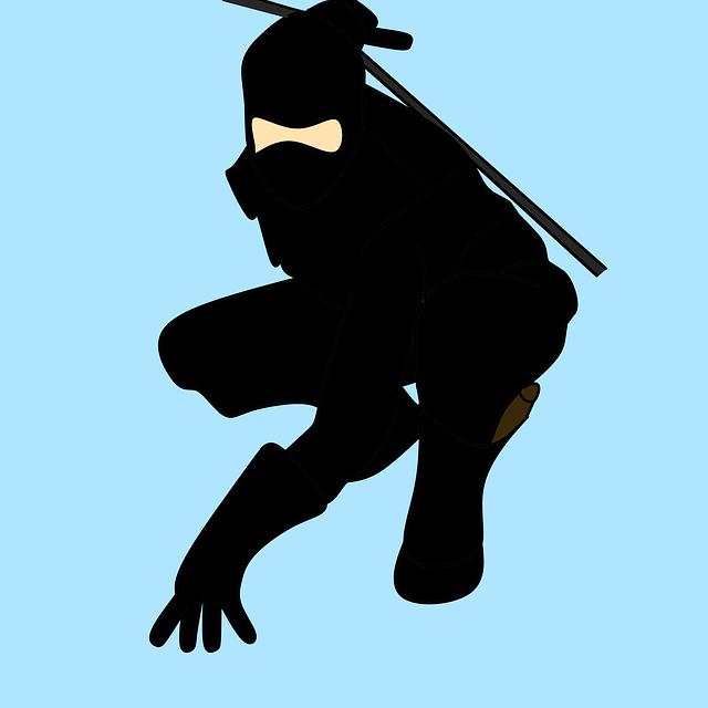 パトロンの日本人をイメージして忍者のイラスト
