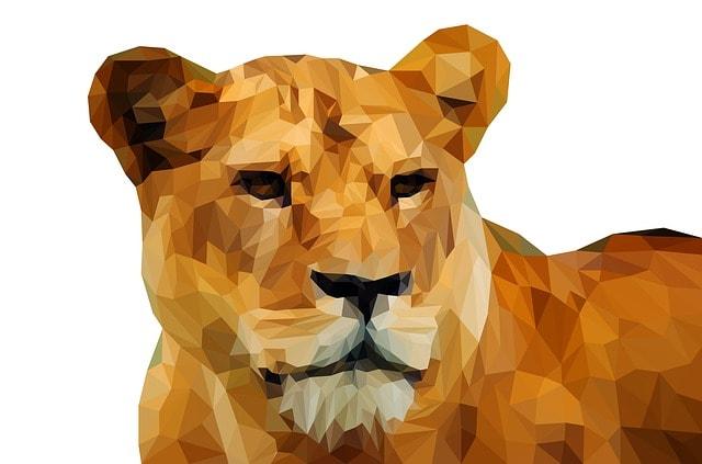 仮想通貨王というイメージでライオン