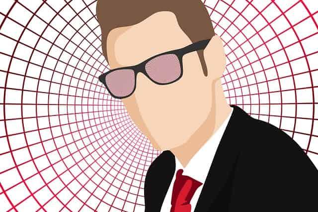 スーツにサングラスの外国人男性イラスト
