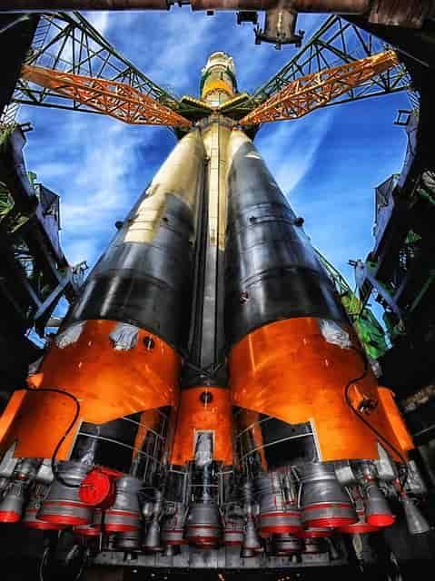 カザフスタンのイメージでロケット