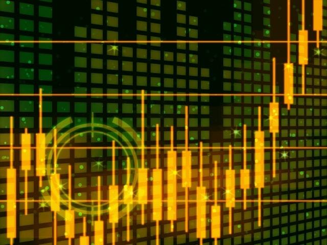 仮想通貨取引所イメージのロウソク足チャート