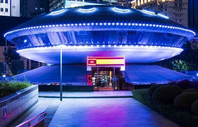 宇宙船のような建物