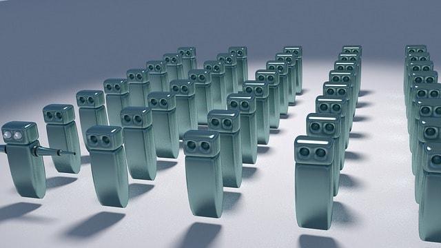 3Dロボットがいっぱい